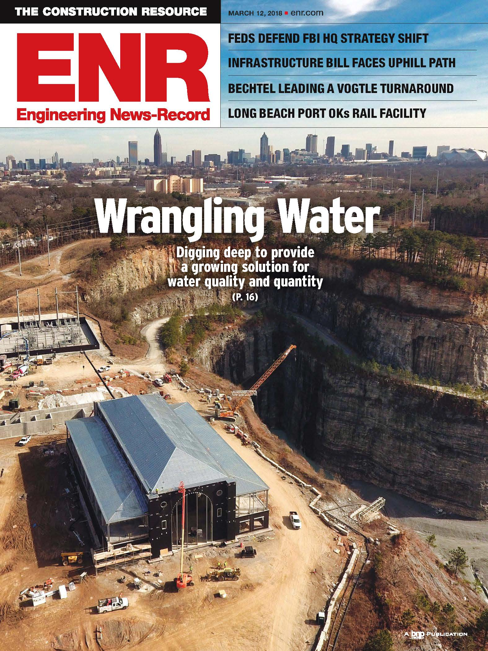 Atlanta Bellwood Quarry project ENR magazine cover March 19 2018