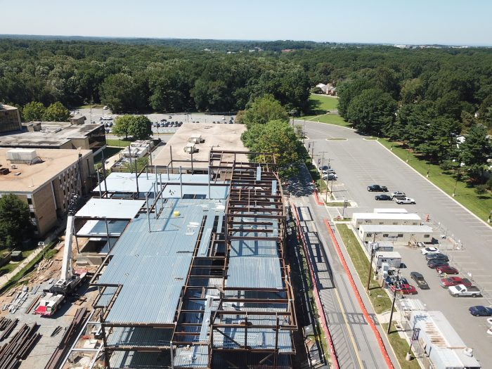 Montgomery College Student Center Under Construction Aerial Image