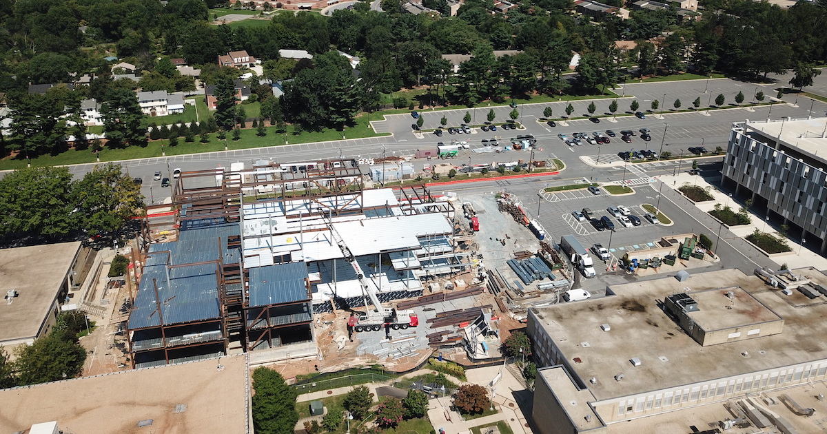 Montgomery College Student Center Aerial Photo Under Construction