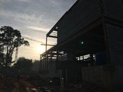 View of Zoo Atlanta steel construction in progress