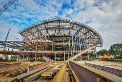 The new Student Union, under construction, at Embry-Riddle Aeronautical University in Daytona Beach, June 20, 2017.