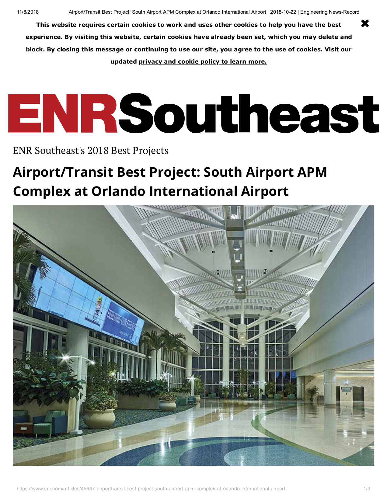 Airport_Transit Best Project_ South Airport APM Complex at Orlando International Airport _ 2018-10-22 _ Engineering News-Record